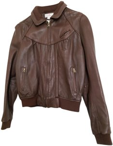 JLo Chocolate Brown Leather Jacket