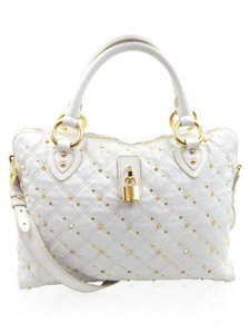 Marc Jacobs Studded Satchel in white