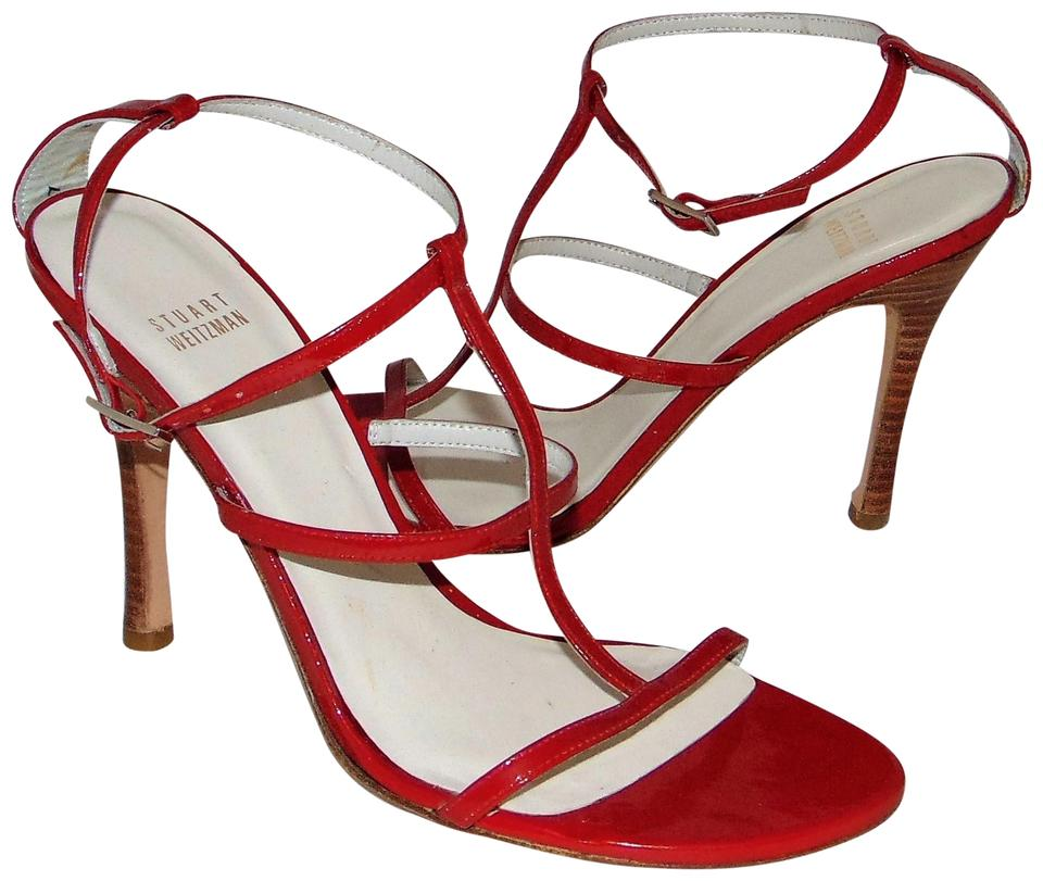 Stuart Weitzman New Red Patent Leather T-strap New Weitzman Sandals a36d67