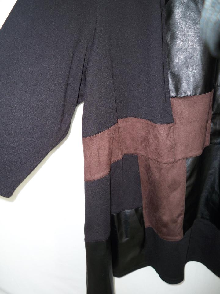 1db23ed27d7 Catherines Faux Leather Faux Suede Knit Patchwork Tunic Image 3. 1234