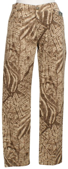 Item - Tan Stretch Geometric Modern Ankle 12 Skinny Jeans Size 34 (12, L)