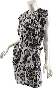 Stella McCartney short dress Black Gray White Animal Print Silk on Tradesy