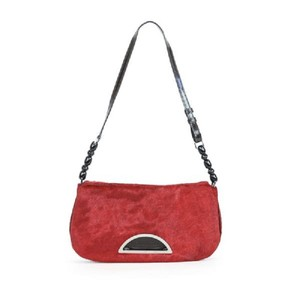 Dior Patent Leather Pony Hair Beaded Shoulder Bag