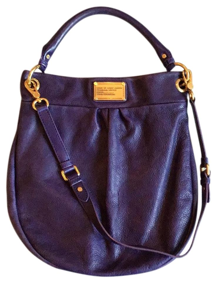 c441ad08e5a Marc by Marc Jacobs Classic Q Heller Purple Leather Hobo Bag - Tradesy