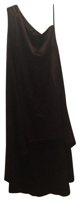 Item - Berry Wine High-low Skirt Off The Shoulder Satin Gown Long Formal Dress Size 22 (Plus 2x)