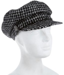 Chanel tweed newsboy cap