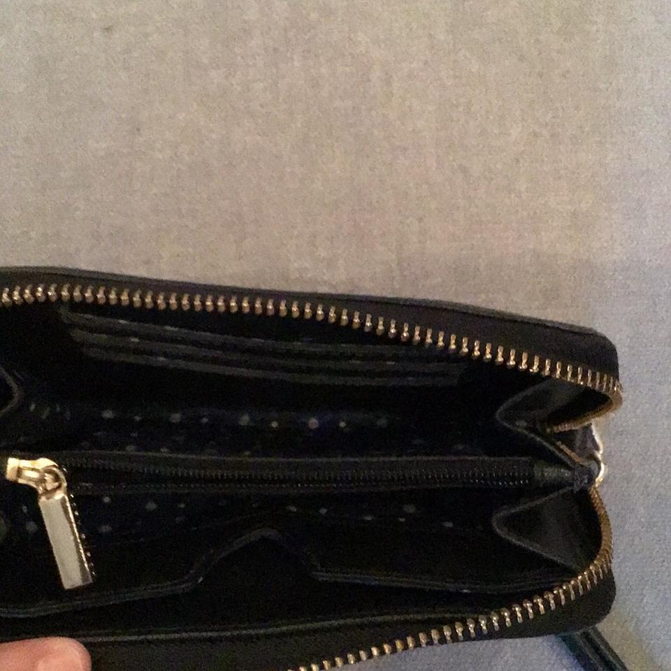 Tory Robinson Leather Burch Wristlet Cellphone Black w8SgUq