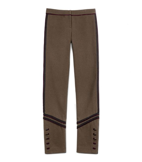 Item - Olive Green with Burgundy and Black Seams Military Inspired Serena Pants Size 6 (S, 28)