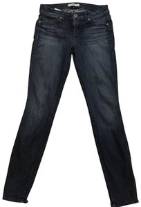 Rich & Skinny Stretchy Denim Distressed Skinny Jeans-Dark Rinse