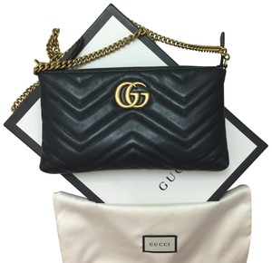 6b9872e31247 Added to Shopping Bag. Gucci Cross Body Bag. Gucci Chain Marmont Gg Mini In Black  Leather ...