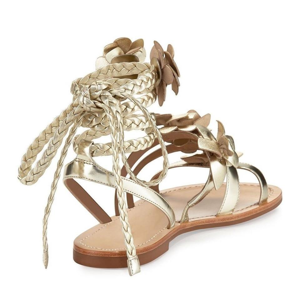 88974e5d35bacd Tory Burch Summer Floral Gladiator Bag Gold Sandals Image 11.  123456789101112