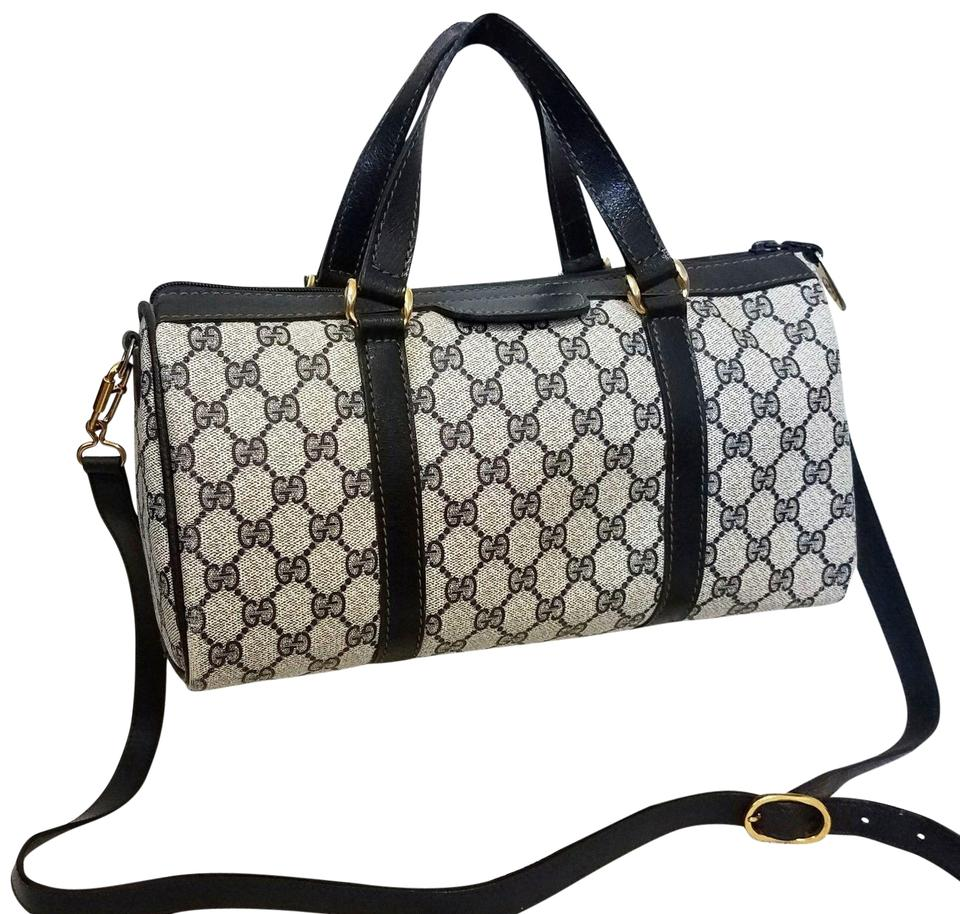 87b3d573404e Gucci Vintage 2-way Tote Blue Supreme Gg Monogram Canvas Leather Cross Body  Bag