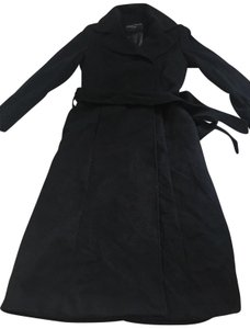 George Simonton Couture Cashmere Wool Wrap Long Pea Coat