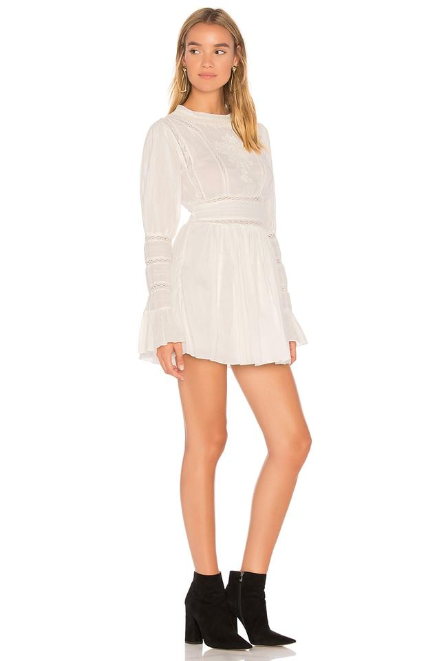 Free People Ivory Victorian Waisted Mini Short Casual Dress Size 2