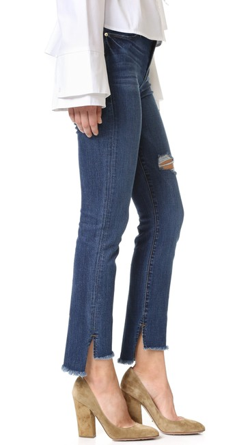 Item - Blue Distressed Le High Straight Leg Jeans Size 28 (4, S)