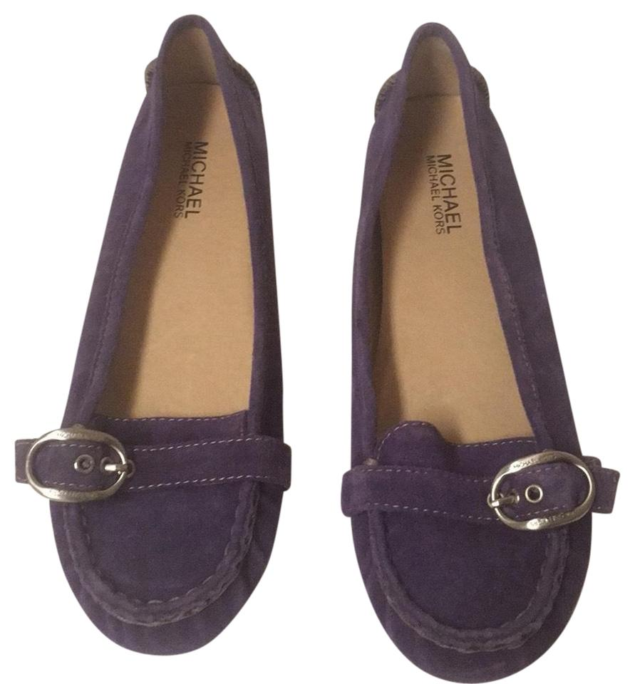 84cdf61b2c2 MICHAEL Michael Kors Purple Suede Loafers Flats Size US 7.5 Regular ...