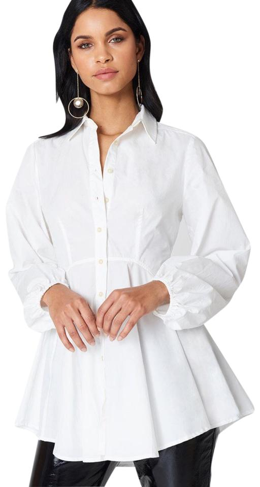 6769e86f Free People Ivory All The Time Tunic Button-down Top Size 6 (S ...