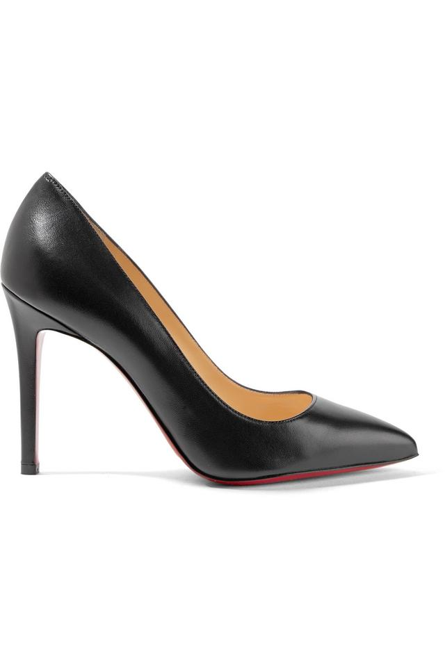Christian Louboutin Black Toe New Pigalle Follies 100 Leather Point Toe Black 42 Pumps b9ecd0