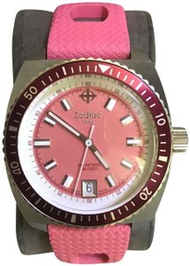 Zodiac Zodiac SeaDragon Pink Rubber Band Watch