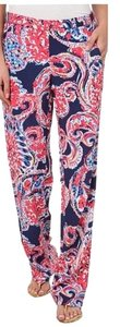 Lilly Pulitzer Relaxed Pants Pink/Navy Multi