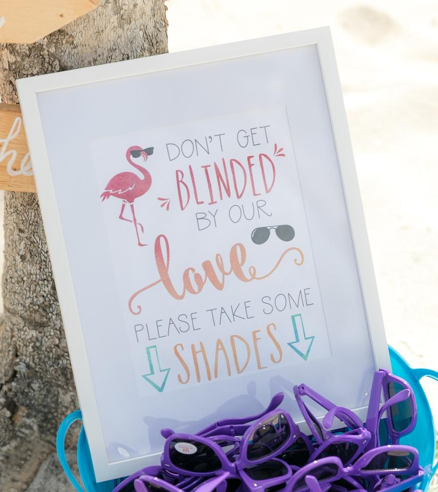 White Frame Don\'t Be Blinded By Our Love Please Take Some Shades Sign  Wedding Favors 55% off retail