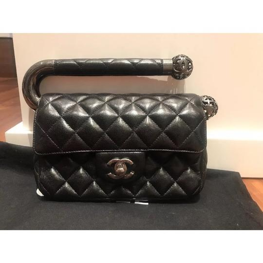 Chanel Evening Limited Edition Leather Lambskin Black Clutch