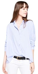 ba&sh Button Down Shirt Sky Blue