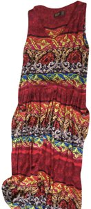 Multi-colored Maxi Dress by Bila Boho Vintage Maxi Sundress Summer