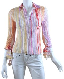 Komarov Striped Shirt Top multicolor