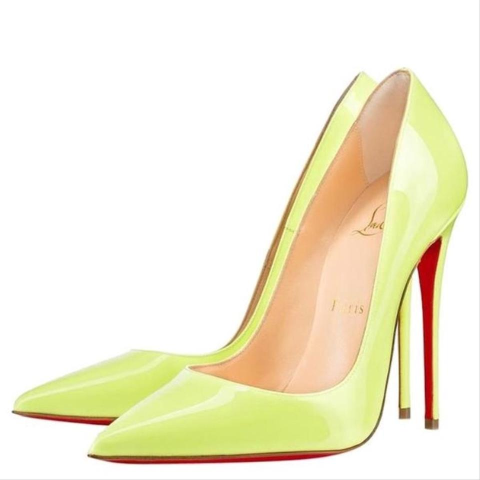 Christian Louboutin Neon So Kate Yellow Patent Stiletto Pumps Size EU 35.5 (Approx. US 5.5) Regular (M, B) 19% off retail