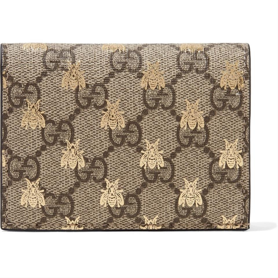 fb40c5826eff Gucci Multicolored Coated-canvas Gg Supreme Printed and Leather ...
