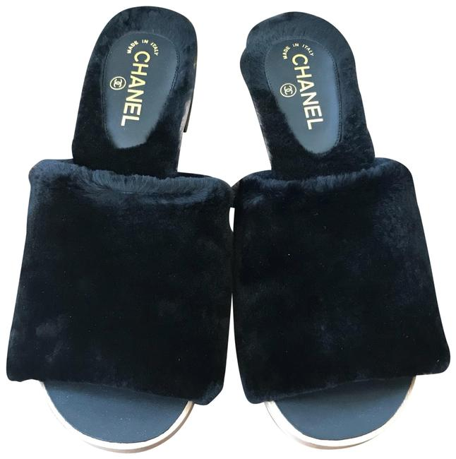 Item - Black Sandals Orylag Fur Flats Mules/Slides Size EU 41 (Approx. US 11) Regular (M, B)