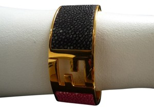Fendi Fendi Stingray Fendista Cuff Bracelet NEW