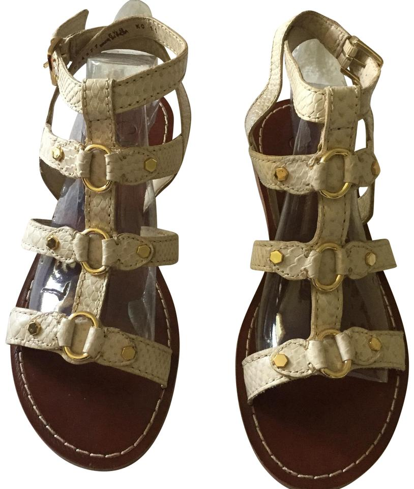 cd96edc35 Cole Haan Off-white Tan Gold Deandra Gladiator Sandals. Size  US 6.5 Regular  ...