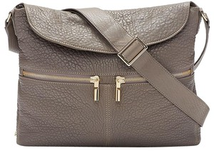 Elizabeth and James Leather Grey Purse Crossbody Hobo Bag