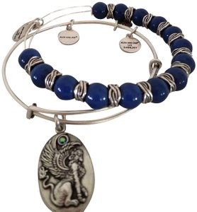 Alex and Ani Alex and Ani Denim Sphinx Beaded Bangle Bracelet Set of 2