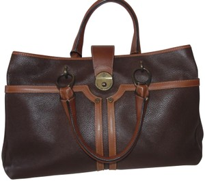 Prix de Dressage Leather Cross Body Tote in Brown & British Tan