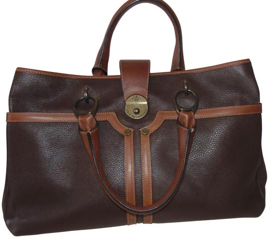 Prix de Dressage Leather Cross Body Tote in Brown & British Tan Image 0