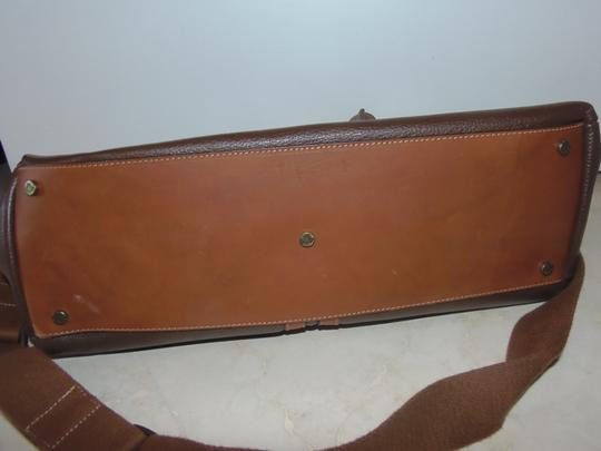 Prix de Dressage Leather Cross Body Tote in Brown & British Tan Image 2