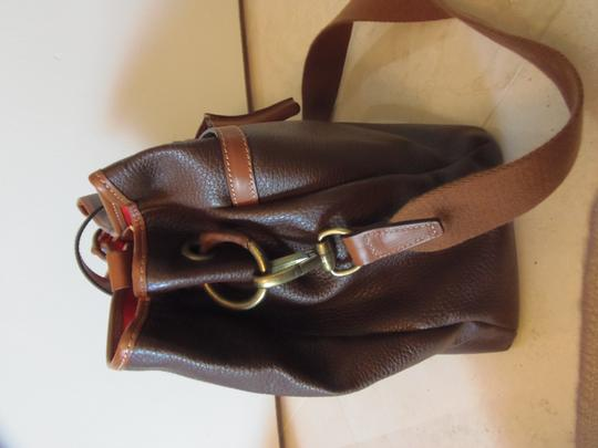 Prix de Dressage Leather Cross Body Tote in Brown & British Tan Image 3