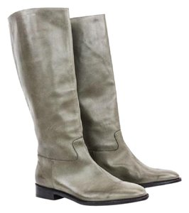 Robert Clergerie Leather Velvet Taupe Boots