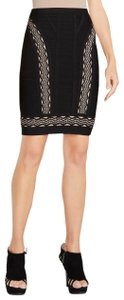 Hervé Leger Skirt Black with white