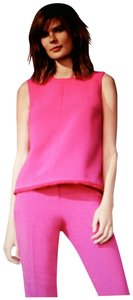 Victoria Beckham for Target Poly Twill Fringe New With Tags Top Fuschia Pink