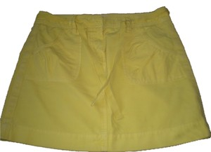 J.Crew J Crew Chino Mini Skirt bright yellow