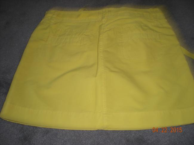 J.Crew Chino Size 6 Mini Skirt bright yellow