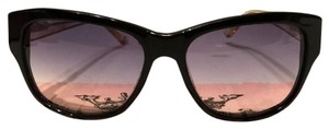 Juicy Couture Black and Clear Sunglasses with gradient lens