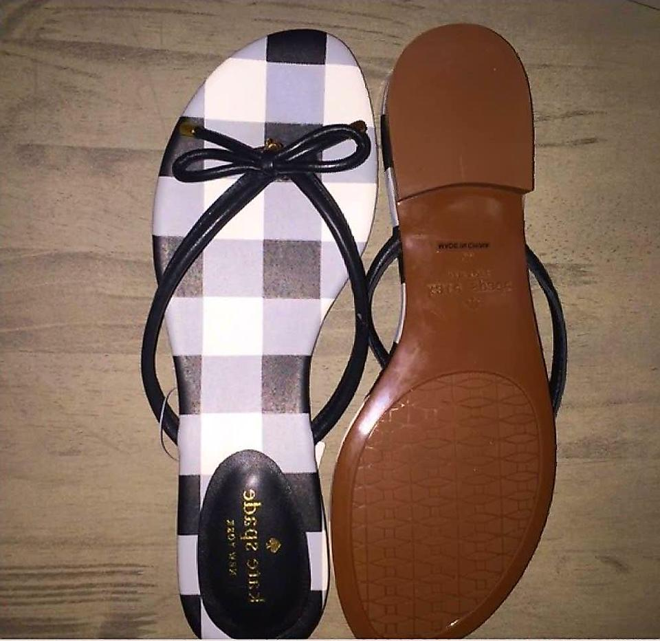 aed304cc8b9 Kate Spade Black New Mistic Flip Flop Leather W Bow 8 Sandals Size US 8.5  Regular (M