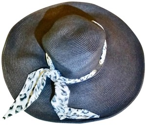 Camrose & Kross Jacqueline Kennedy Wide Brim Summer Hat and Scarves Set