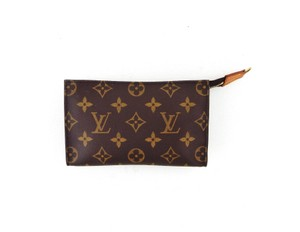 Louis Vuitton Pochette Toiletry 17 Monogram Canvas Leather Cosmetics Travel Dopp Bag
