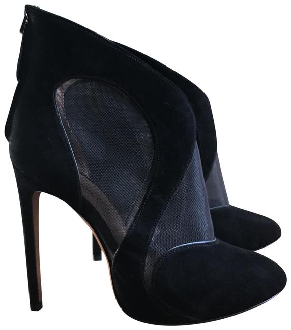 Item - Black Ankle Mesh Suede Stiletto Boots/Booties Size EU 38.5 (Approx. US 8.5) Regular (M, B)